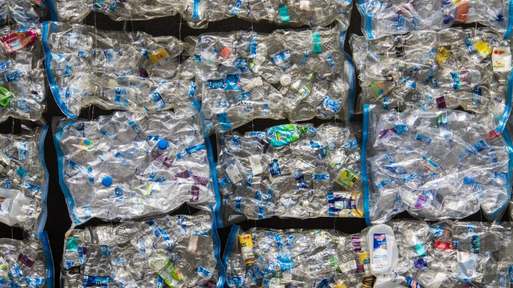 plastic piled up