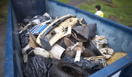 dumpster of trash tennessee